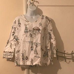 Hot cotton blouse